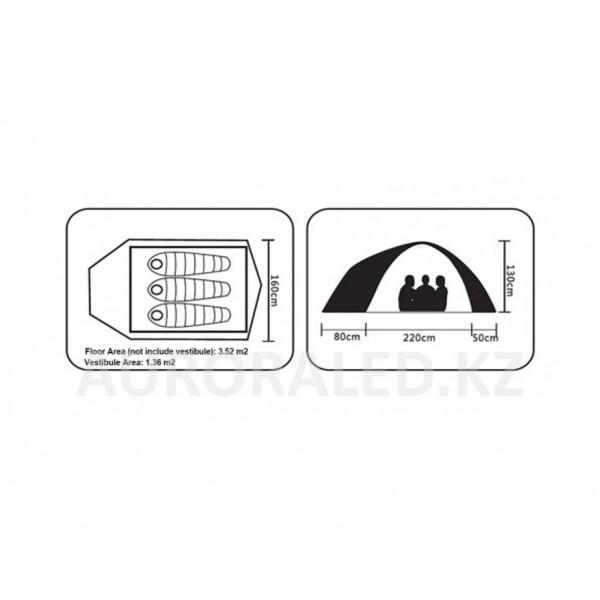 Трехместная палатка Kailas Star Night Camping Tent 3P