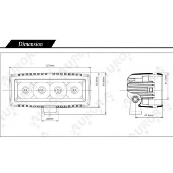 Светодиодный фонарь дальнего света AURORA серии Mini ALO-L-4-P7D1