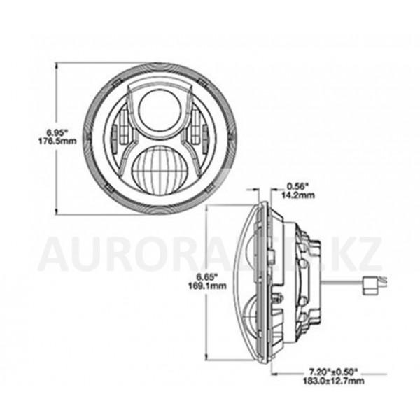 Фонарь головного света AURORA ALO-M-1B